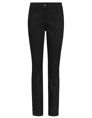 M/&S Plus PER UNA ROMA Rise Straight Leg Embellished Cotton Rich Jeans UK 28 EU56