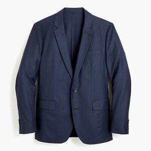 J-Crew-H2794-Ludlow-Slim-fit-unstructured-blazer-in-American-wool-Size-38R