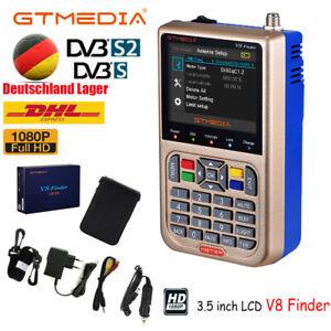 GTMedia V8 Finder Satelliten Messgerät DVB-S2X HD LCD 1080P Sat-Meter Satfinder