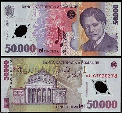 50000 lei 2001 UNC 2004