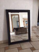 Vægspejl, b: 72 h: 102, Smukt facetslebet spejl
