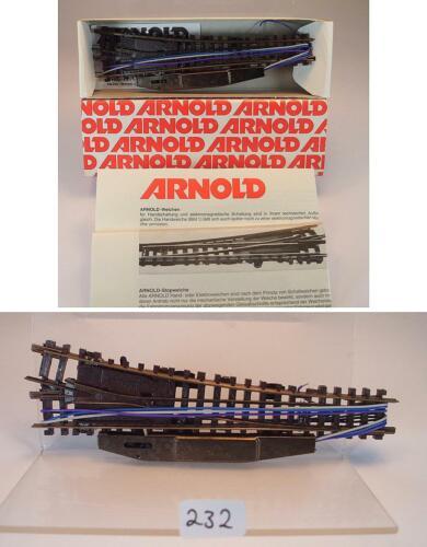 Arnold Spur N 1747 elektrische Weiche rechts OVP #232