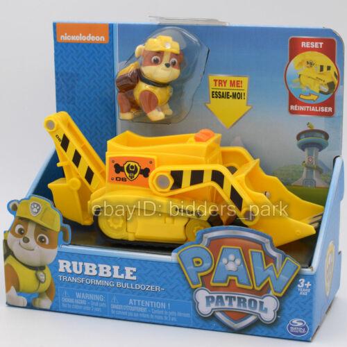 Nickelodeon PAW Patrol Dog Rubble Transforming Bulldozer Model Vehicles Car Toy