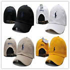 New Polo Style Pony Hat Cap Leather Strap us adjustable vintage golf black