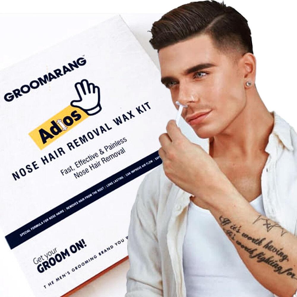 Groomarang Adios Nose Ear Hair Removal Wax Kit Painless Easy