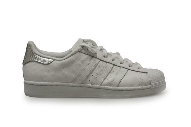 Mens Adidas Superstar - S80341 - White Silver Trainers