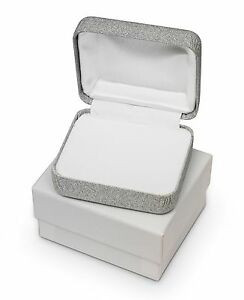 Details About 3 Small Jewelry Gift Boxes Earrings Necklace Ring Silver Sparkle Premium Box