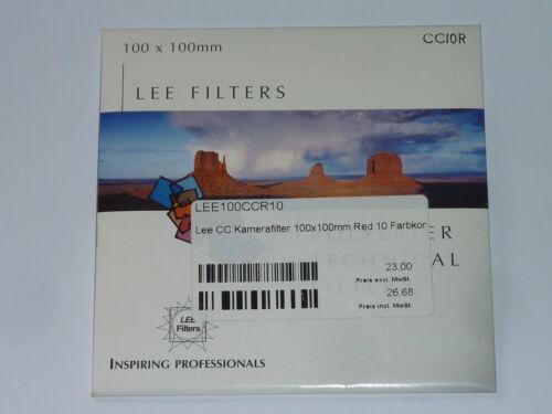 Lee cc cámara filtro 100mmx100mm cc 10 R