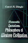 Memorable Quotations: Philosophers of Western Civilization by Writer's Showcase Press (Paperback / softback, 2000)