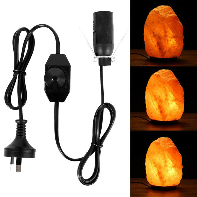 1.5MSpring-Loaded Wire Clip Salt Lamp Electrical Cord With Dimmer Switch AU PLUG
