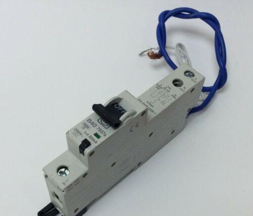 MK ELECTRIC 40 AMP RCBO 30MA B TYPE 6KA 7937S SENTRY TO CLEAR MK10