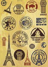 """Sticker Decal Aufkleber Set """"Travel International""""- Koffer, Laptop, Stickerbomb"""