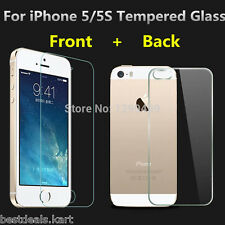Front & Back Tempered Glass Screen Guard Protector for Apple iPhone 5 / 5S / SE