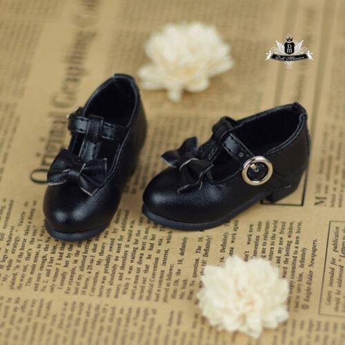 1//4 BJD Shoes MSD Dollfie Lolita bow black student Shoes DREAM Luts AOD DOD MID