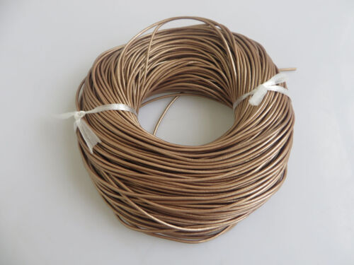 2mm Round 100/% Real Genuine Leather Thong Cord for Bracelet /& Necklace Making