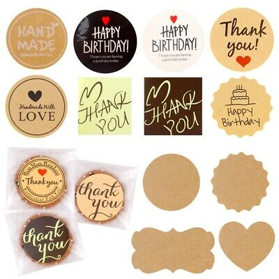 UK/_ 100Pcs//Roll Round Thank You Label Seal Adhesive Sticker Packaging Tag Decor