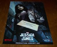 Marvel Comics Jessica Jones Tv Show Krysten Ritter Art Sketch Promo Poster