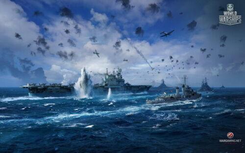 "Fight  Hot TV Game 38/""x24/"" Poster 023 World of Warships Battlecruiser"