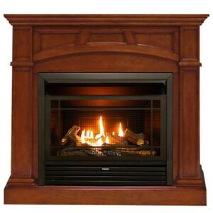 Duluth-Forge-Dual-Fuel-Ventless-Gas-Fireplace-26-000BTU-Heritage-Cherry-Finish