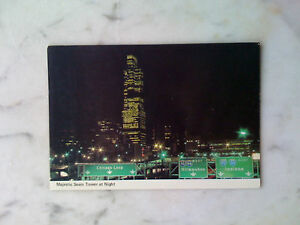 1-Ansichtskarte-Chicago-1-Sears-Tower-at-Night-and-Expressway-Illinois-ungel