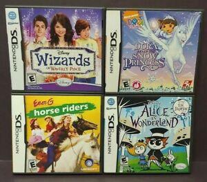 Disney-Alice-Wizards-Horse-Riders-Dora-Game-Lot-Nintendo-DS-Lite-3DS-2DS