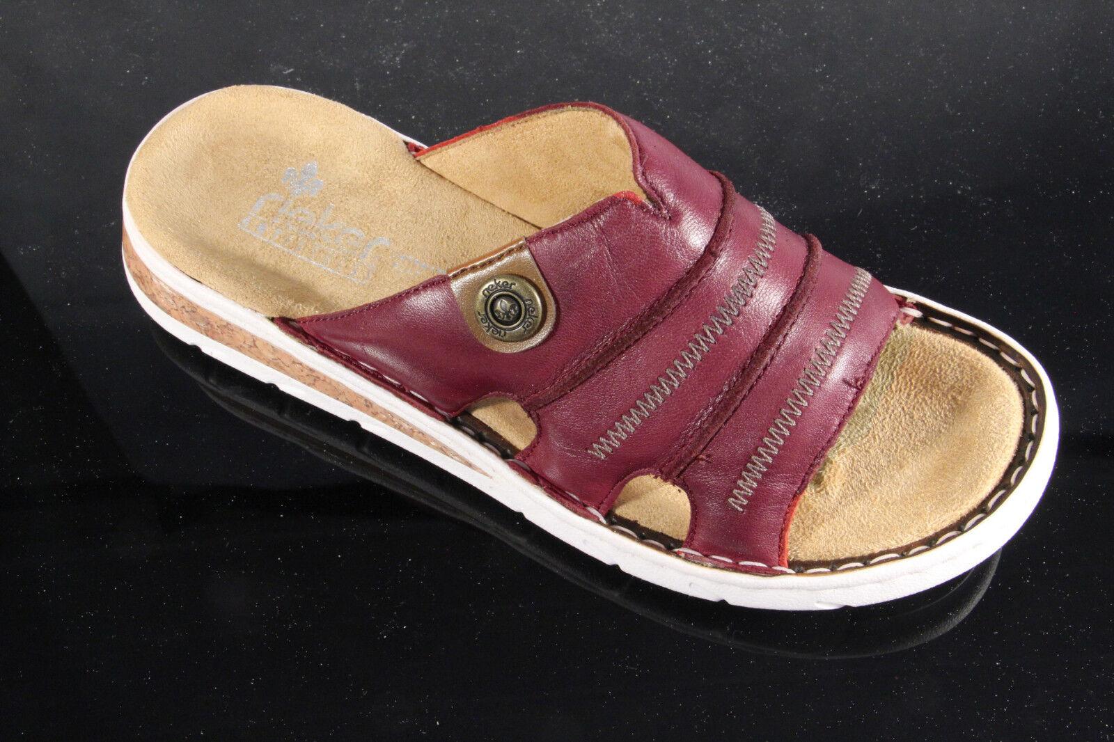Rieker Rieker Rieker Pantoletten Pantolette rot Pantoffel rot Pantolette 61876 NEU 9da761