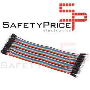40x-Cables-30cm-Macho-Macho-jumper-dupont-2-54-arduino-protoboard-cable