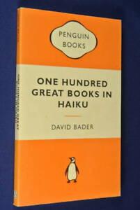 ONE-HUNDRED-GREAT-BOOKS-IN-HAIKU-David-Bader-BOOK-Poetry-Literature