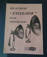 Catalogue publicité Réflecteur EXCELSIOR Photoflood photo meopta catalog Katalog