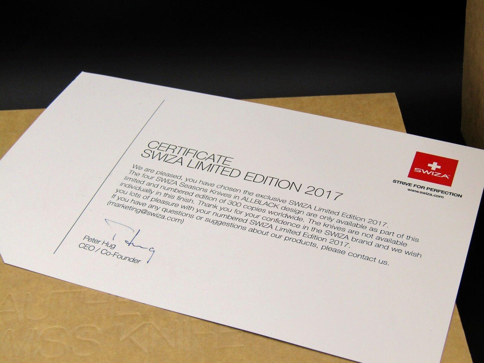 Schweizer Taschenmesser SWIZA SWIZA SWIZA 4 Jahreszeiten, 4 seasons limited,swiss army knife 62a798