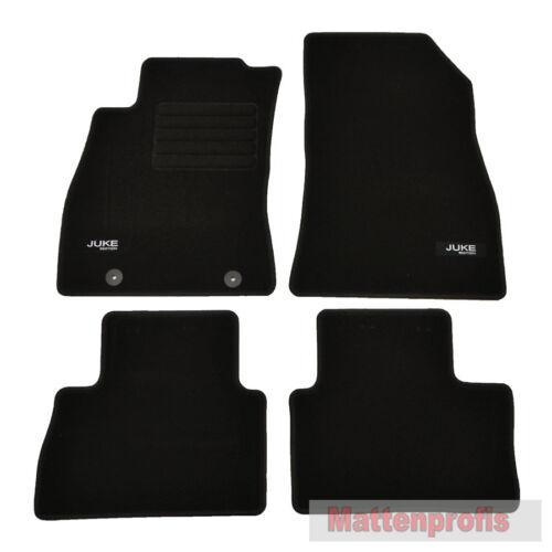 Alfombrillas profesionales gamuza logotipo tapices alfombras coche para Nissan Juke a partir del año 06//2010