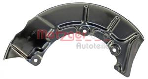 Bremsscheibe für Bremsanlage Vorderachse METZGER 6115021 Spritzblech