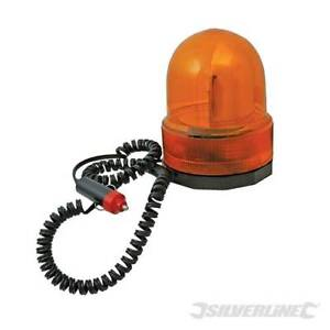 Gyrophare Magnétique Orange Silverline Allume-cigare 12 V