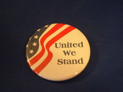 """/""""UNITED WE STAND/"""" BUTTON Patriotic pin pinback 2 1//4/"""" badge NEW USA America FLAG"""