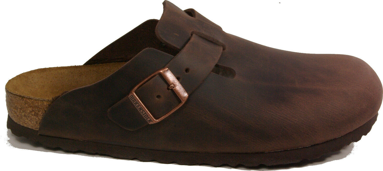 Men/Women BIRKENSTOCK 0860131 BOSTON HABANNA Brown leather store REGULAR footbed NEW flagship store leather New style Excellent stretching RN515 c228a6