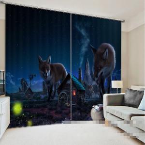 3D Anime Cortinas de impresión de cortina de Foto Animal Blockout Tela Cortinas Ventana au