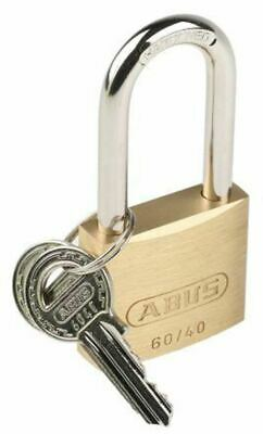 Padlock 40mm Brass Key Padlocks Shackle 6mm x 22mm Indoor//Outdoor Brass Locks