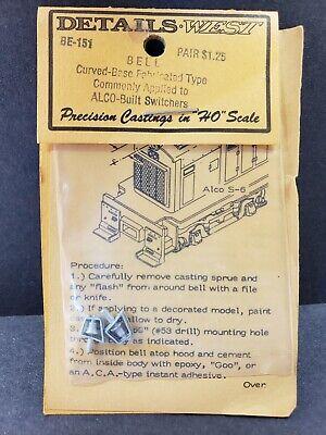 Details West 151 x HO Bell Curved Base Fabricated Type Alco Switchers