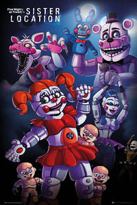 Image is loading 5-NIGHTS-AT-FREDDY-039-S-GAMING-POSTER-