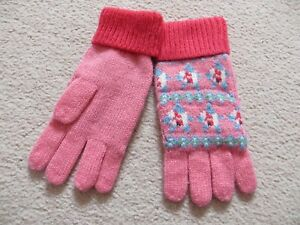 BNWOT-Small-Girls-Cath-Kidston-Pink-FairIsle-Knit-Gloves-One-Size