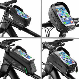 ROCKBROS-Waterproof-Bicycle-Frame-Top-Tube-Bag-Touchscreen-Bike-Phone-Bag