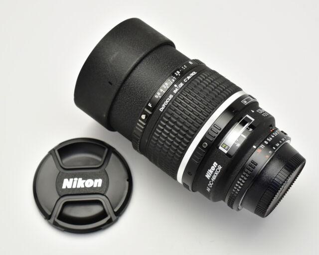 Nikon AF DC-NIKKOR 135mm f/2 D Lens Defocus Image Control FX Bokeh King (#3144)