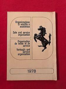 Organisation de vente et de service Ferrari 1978 - France - État : Occasion: Objet ayant été utilisé. Consulter la description du vendeur pour avoir plus de détails sur les éventuelles imperfections. ... - France