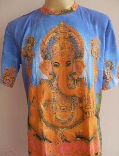 Ganesh Ganesha God Hindu Deity Hinduism India  Blue M L Glittering