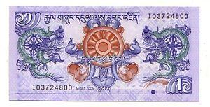 Bhutan-1-ngultrum-2006-FDS-UNC-Pick-27-Lotto-3026