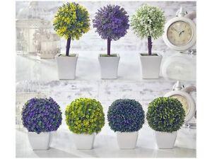 Topiaria artificiale albero fiori e palla di bosso piante for Bosso in vaso