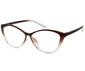 35f3f96ea9 Women Reading Glasses Reader Cat Eye Brown TR90 Flex ht88197-brown ...