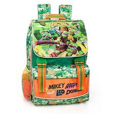Ninja Turtles Green Expandable & Ergonomic Backpack Rucksack Boys School Bag