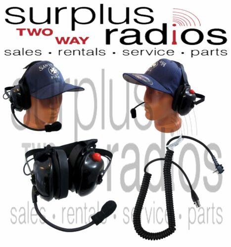 New Dual Muff Racing Headset W//PTT For Vertex EVX-261 EVX-531 EVX-534 EVX-539