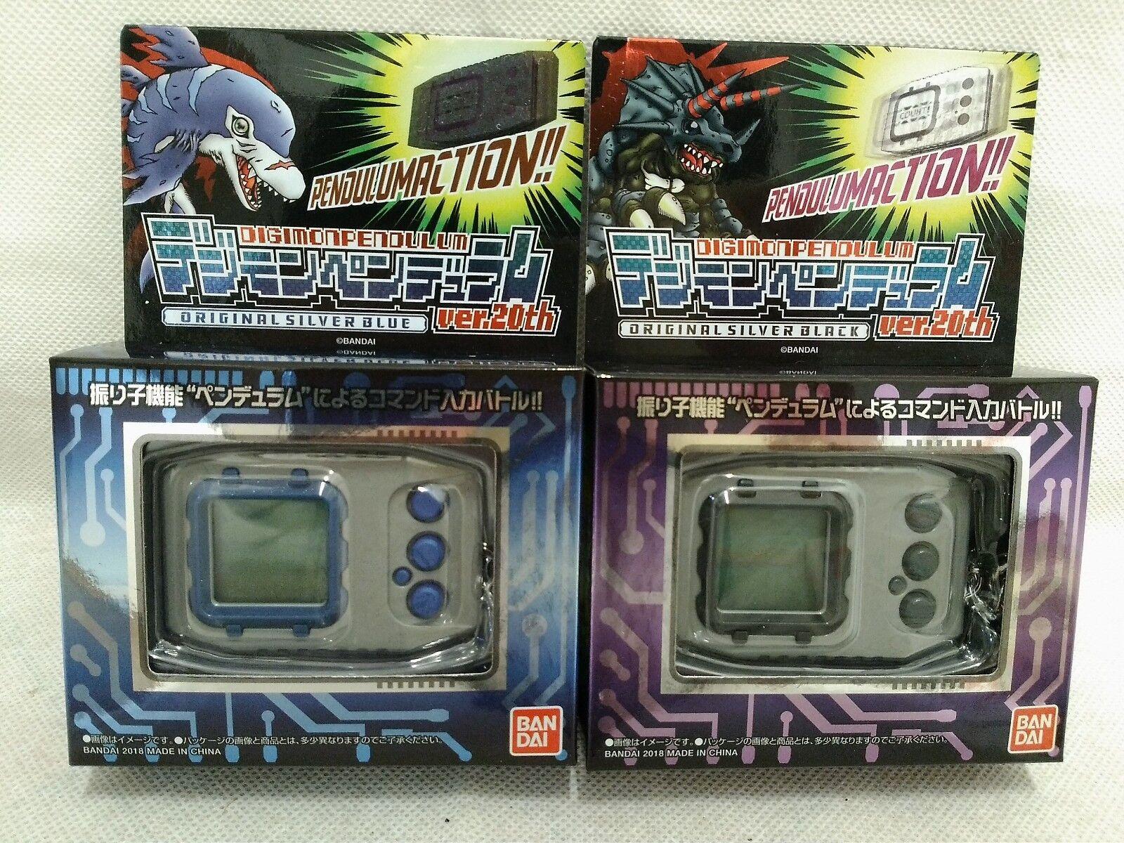 Bandai Digitale Mostro Digimon Pendolo ver.20th Originale Argento Nero & Blu